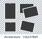 realistic photo frame placed on ... | Shutterstock .eps vector #726227869