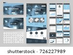 website template  one page... | Shutterstock .eps vector #726227989
