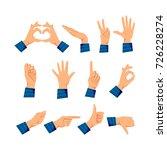 set of men's hands in different ... | Shutterstock .eps vector #726228274