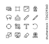 icon set   design tools of a... | Shutterstock .eps vector #726229360