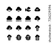 icon set representing cloud... | Shutterstock .eps vector #726229396
