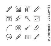 graphics design tool icon set | Shutterstock .eps vector #726229456