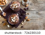 chocolate mousse topped with... | Shutterstock . vector #726230110