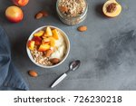 homemade oatmeal granola with... | Shutterstock . vector #726230218