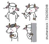 set of goat cartoon character...   Shutterstock .eps vector #726230248
