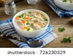 chicken and wild rice soup.... | Shutterstock . vector #726230329