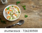chicken and wild rice soup....   Shutterstock . vector #726230500
