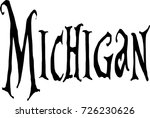 michigan text sign illustration ... | Shutterstock .eps vector #726230626