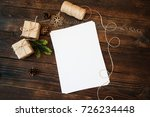 mockup christmas gift boxes and ... | Shutterstock . vector #726234448