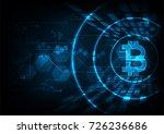 abstract futuristic digital... | Shutterstock .eps vector #726236686