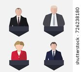 set of presidential candidate... | Shutterstock .eps vector #726238180