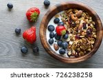 homemade  granola with  fresh... | Shutterstock . vector #726238258