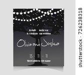 wedding invitation template...   Shutterstock . vector #726238318