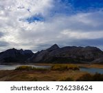 lake in mountains. with white... | Shutterstock . vector #726238624