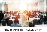 abstract blurred conference... | Shutterstock . vector #726239449