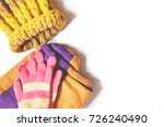 yellow knitted hat  woolen... | Shutterstock . vector #726240490