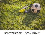 football in the sunset and stud ...   Shutterstock . vector #726240604