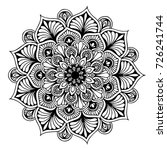 mandalas for coloring book.... | Shutterstock .eps vector #726241744
