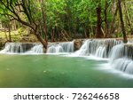 huay mae khamin waterfall in... | Shutterstock . vector #726246658
