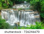 huay mae khamin waterfall in... | Shutterstock . vector #726246670