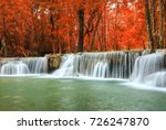 huay mae khamin waterfall in... | Shutterstock . vector #726247870