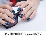 natural nails with gel polish... | Shutterstock . vector #726250840