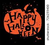 happy halloween hand drawn... | Shutterstock .eps vector #726255400
