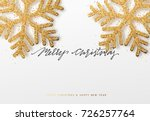 christmas background with... | Shutterstock .eps vector #726257764