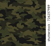 camouflage pattern seamless... | Shutterstock .eps vector #726257989