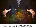 businessman with strategy and... | Shutterstock . vector #726258904