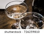 glasses with champagne on the... | Shutterstock . vector #726259810