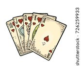 Royal Flush In Hearts. Playing...