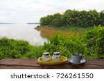 coffee time river | Shutterstock . vector #726261550