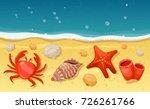 Summer Beach With Sea Shells ...