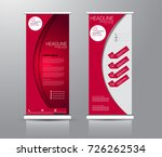 roll up banner stand template.... | Shutterstock .eps vector #726262534