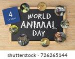 world animal day | Shutterstock . vector #726265144