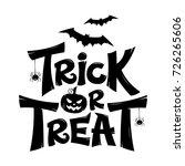 Trick Or Treat Lettering Design ...