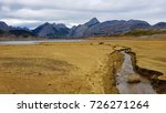 a dry reservoir  beige and... | Shutterstock . vector #726271264