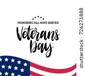 Happy Veterans Day Lettering...