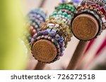 gemstone bracelets and... | Shutterstock . vector #726272518