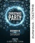 advertising festive poster for... | Shutterstock .eps vector #726274948