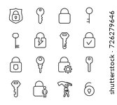 simple collection of keys and... | Shutterstock .eps vector #726279646