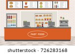 fast food restaurant interior.... | Shutterstock .eps vector #726283168
