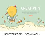 business template with launch... | Shutterstock .eps vector #726286210