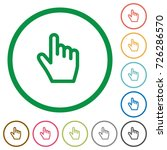hand cursor flat color icons in ... | Shutterstock .eps vector #726286570