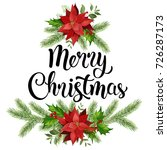 christmas design composition... | Shutterstock .eps vector #726287173