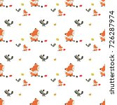 seamless autumn pattern with... | Shutterstock .eps vector #726287974