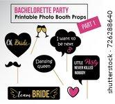 bachelorette party  hen party ... | Shutterstock .eps vector #726288640