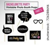 bachelorette party  hen party ... | Shutterstock .eps vector #726288646