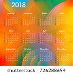english calendar for 2018 on... | Shutterstock .eps vector #726288694